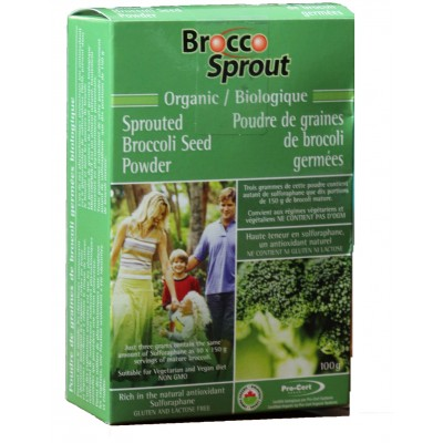 Brocoli germé biologique en poudre NutraSprout