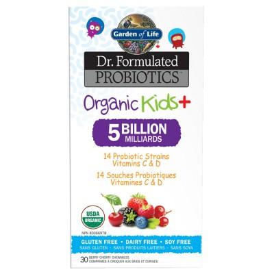 Dr. Formulated Organic Kids+, 30 comprimés à croquer